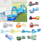 3-in-1 Kids Play Tent Large Play House Tunnel & Ocean Ball Pool For Baby Toddler