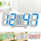 3D Smart Stereo Large LED Wall Tabletop Snooze Alarm Clock 12/24 Hour Display