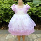 Kid Girl Toddler Baby Flower Princess Party Pageant Wedding Dresses Rose 0 4T
