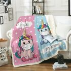 Super Soft Sherpa Fleece Black Unicorn Blanket Throw Rug Sofa Home Bed Decor US image