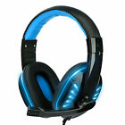 3.5mm Gaming Headset Stereo Surround Headphone Wired Mic For PS5 Laptop Xbox One
