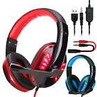 Kyпить 3.5mm Gaming Headset Stereo Surround Headphone Wired Mic For PS4 Laptop Xbox One на еВаy.соm