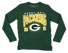 NFL Youth Green Bay Packers Long Sleeve Intinerary Front Graphics Tee, Green $11.99 USD on eBay