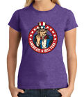 America Hell Yeah JUNIOR'S T-shirt Uncle Sam Patriotic Stars GIRL'S Tee - 2024C