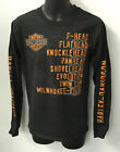 Harley Davidson Mens Roll Call Long Sleeve Shirt Black R003276 $39.0 USD on eBay