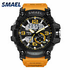 SMAEL Military Watches Army Men's Wristwatch LED Quartz Digtial Dual Time Watch image