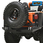 EAG Rear Bumper with Secure Lock Tire Carrier Fits 76-86 Jeep Wrangler CJ