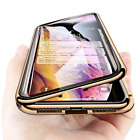 360° Magnetic Adsorption Case Glass Cover For iPhone 11 Xs Max 7 8 Plus SE 2020