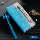 Zipper Wallet Leather Flip Stand Cover Case For Huawei P30 Lite Y7 2019 P20 Lite