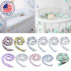 Infant Crib Baby Toddler Bed Bumper Bedding Knot Cushion Protector Fence Cotton