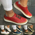 Women's Fashion Casual Hollow-Out Shoes Sneakers Flat On Slip Toe Round Size