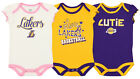 OuterStuff NBA Girls Infant/Newborn Los Angeles Lakers 3-Piece Creeper Set on eBay