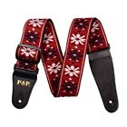 1.5 Meters Bohemian Style Embroidery Guitar Strap Multicolor Exquisite Jacquard for sale