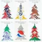 Pine Tree Christmas Ornament Handmade Recycled Aluminum Can Many Varieties