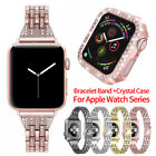 Women Bling Band Bumper Case For Apple Watch Series 5 4 3 2 38/42/40/44mm iWatch image