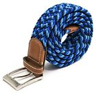 Anchor21 Braid Belts For Men, Elastic Stretch Fabric Woven Web Belt