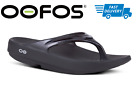 OOFOS OOLALA BLACK SANDAL Women's Thong Flip Flop Recovery - NEW