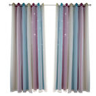 Double-layer Curtains Blackout Floor Starry Curtain Kids Girls Bedroom Decor UK