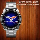 NEW Chevy C0rvette Logo Sport Metal Watch