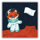 "Fox Astronaut Cartoon Car Bumper Sticker Decal  ""sizes"""