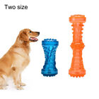 WO_ Funny Dumbbell Squeaky Puppy Dog Grinding Teeth Molar Stick Pet Chew Bite To