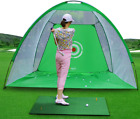 Golf Cage Detachable Swing Hitting Practice Net Trainer Indoor Outdoor Driving