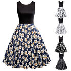 Dress Evening Cocktail Summer Retro Vintage Party A-line Swing Style Neck 1950s