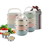 3/4Layer Thermal Insulated Lunch Box Bento Food Picnic Container Stainless Steel