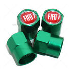 Hex Fiat Logo Badge Emblem Car Wheels Tire Air Valve Caps Stem Dust Cover Sport