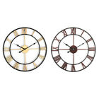 45cm Large Wall Clock Big Roman Numerals Giant Open Face Metal For Home Outdoor