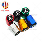 Hex Love And Peace Logo Car SUV Wheels Tire Air Valve Caps Stem Dust Cover Sport