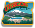 "Oregon Usa State Emblem Car Bumper Sticker Decal ""sizes''"