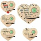 Heart Shape Wooden Ornaments Theme Customized Birthday Gifts for Women Men