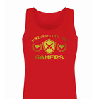 Ladies University Of Gamers Vest • Tank Top Girls Video Game Gamer Funny Girls