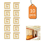Siliver/gold Acrylic Modern Diy Wall 3d Mirror Surface Sticker Home Office Decor