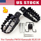 2PCS FOOT PEGS FOOTPEGS FOOTREST FOR Yamaha PW50,PW80 50 Pit Dirt Bike Honda XR image