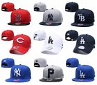 New MLB Team Embroidered Logo Cap Sanpback Baseball Flat Bill Hats PICK ALL TEAM