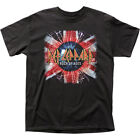 Def Leppard Rock Of Ages Union Jack T Shirt Mens Licensed Rock Band Tee Black