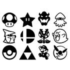 Mario Bros Nintendo Vinly Decal Sticker for Laptop Car Window Wall Bumper Door