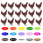 Chicken Animal Vinyl Stickers f/ envelope seal party cup farmer car wall wedding