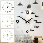 3d Modern Diy Wall Clock Mirror Surface Sticker Home/office Decor Clocks Acrylic