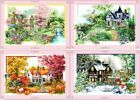 "New Finished Cross Stitch""Four Seasons""Finished Cross Stitch Home Decor Gift"