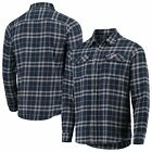 Antigua Boston Red Sox Navy/Gray Flannel Button-Up Shirt on Ebay