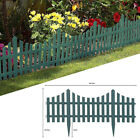 Fencing Edge Set Lawn Border Plastic Edging 4pc Grey Wooden Effect Picket Garden