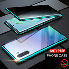 For Samsung Galaxy S8 9 10 Note8 9 10 Plus Anti-Spy Magnetic Glass 360°Full Case