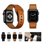 Luxury Leather Sport Strap Band for Apple Watch Series 5 4 3 2 1 38/42mm 40/44mm image