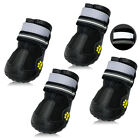 4pcs Dog Boots Feet Cover Paw Protectors Shoes Waterproof Pet Booties Non Slip