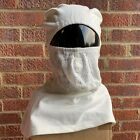 UK ROYAL NAVY SURPLUS ISSUE HOOD ANTI FLASH WHITE FR,FIRE RETARDANT BALACLAVA