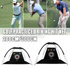 2M/3M Golf Practice Driving Hit Net Cage Training Mat Aid With Cutting Holes AU