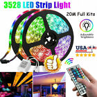 Kyпить 20M 66FT Flexible Strip Light 3528 RGB LED SMD Remote Fairy Lights Room TV Party на еВаy.соm
